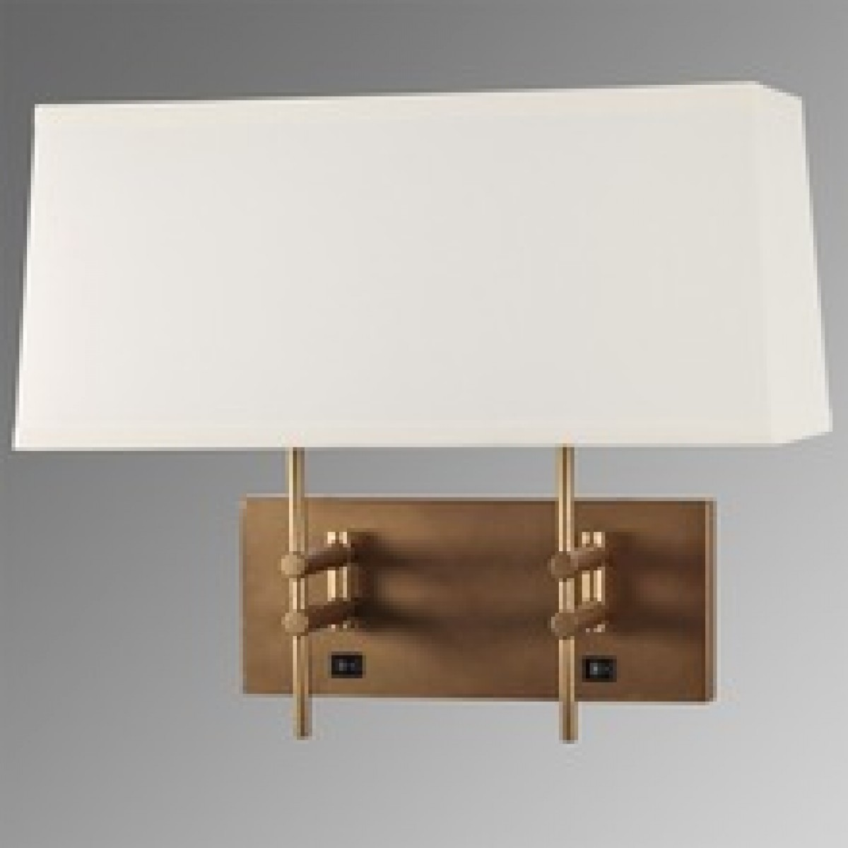 Hotel Guest Room Wall Light Sconce Lamp Fabric And Burshed