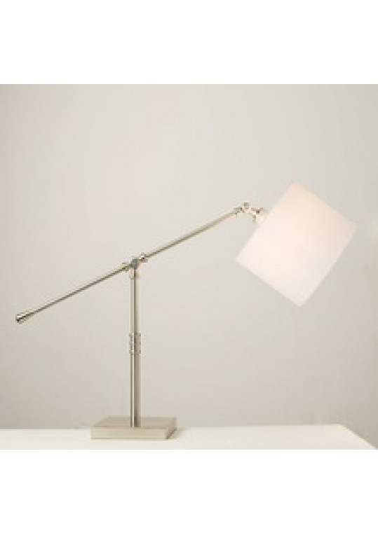 hotel table lamp in Brushed chrome Nickel metal and fabric shade new design with outlet USB and switch madie by china hotel lighting manufacturer coart item 115201804435