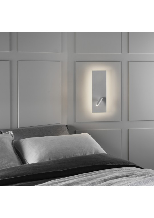 hotel bedroom Edge Reader LED Single Switch Matt White item 7959