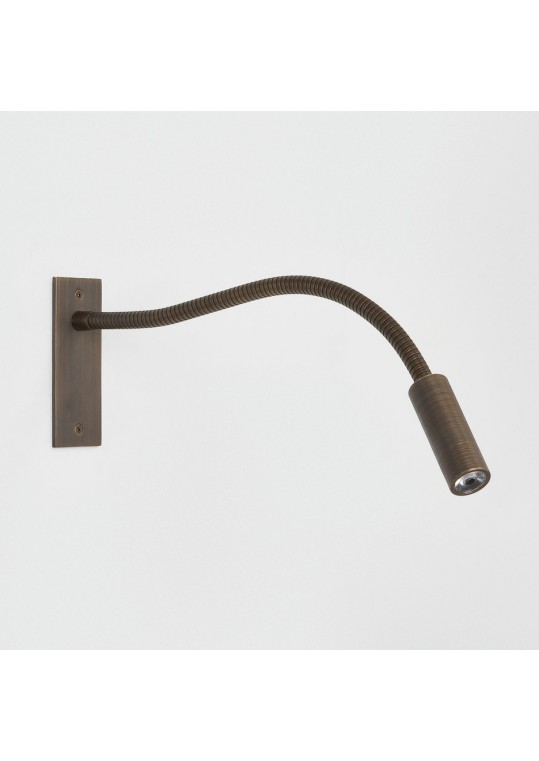 led bedside reading lamp Leo Unswitched Bronze Plated item 7055