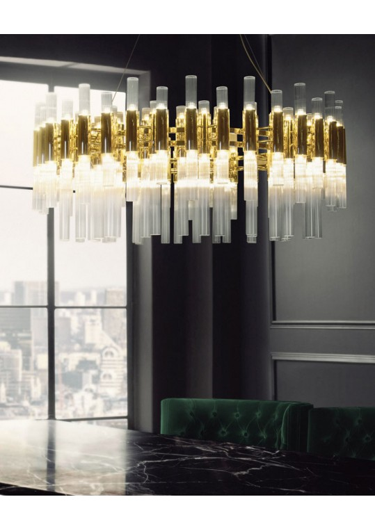 WATERFALL ROUND SUSPENSION modern lighting