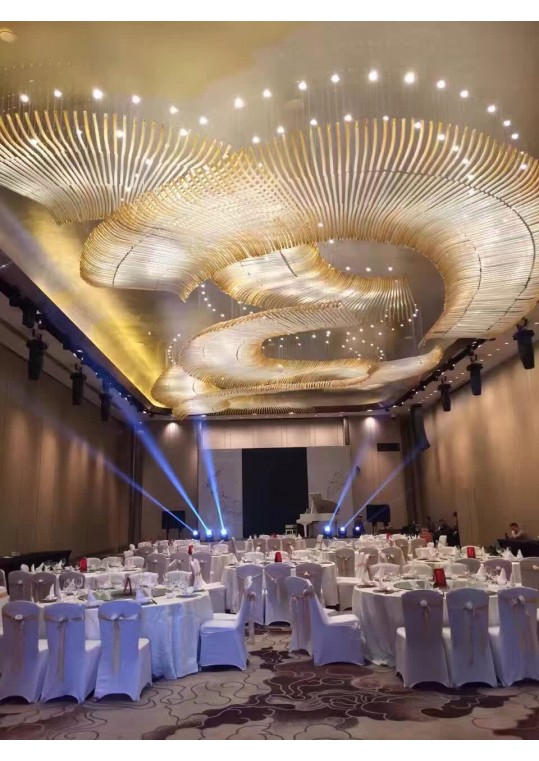 hotel ball room lighting made in China coart factory banqueting hall chandelier new design 2018