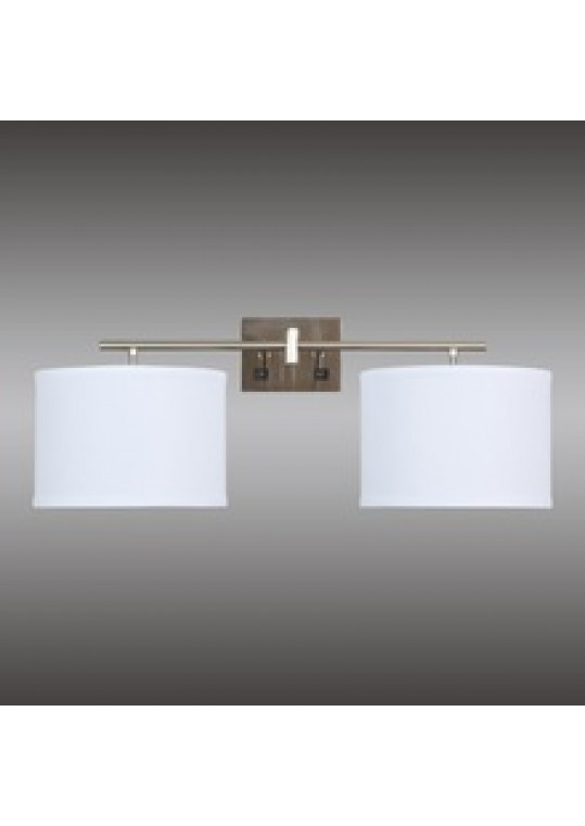 hotel guest room wall light sconce lamp fabric and burshed nickle with outlet usb and switch 511201815122