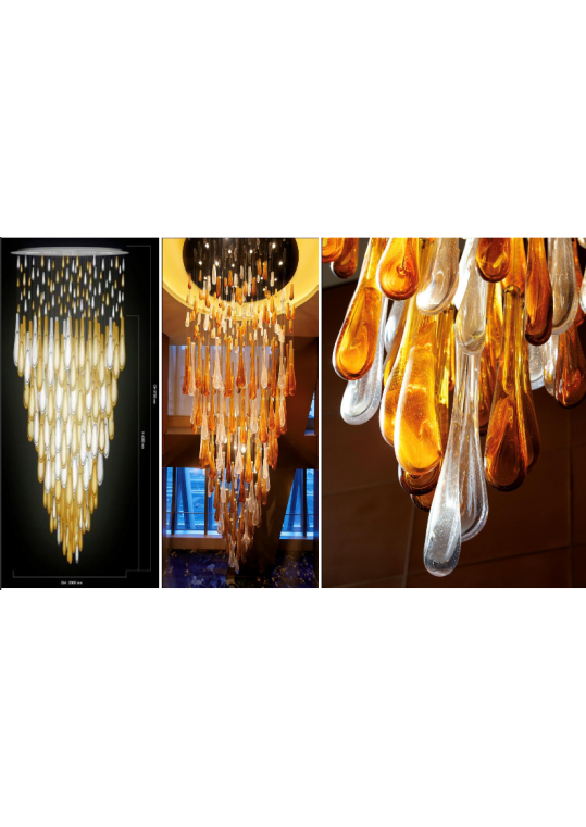 custom made lighting for hotel and hospitality commercial space etc designed by lasvit and made in China glass crystal steel styles 10129528
