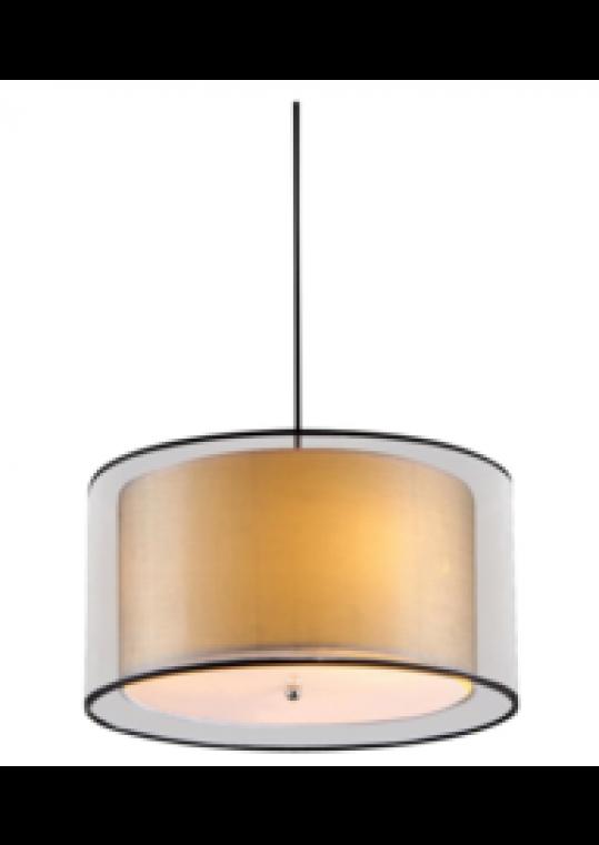 hotel pendant light with linen shade chrome contemporary design custom made in china lighting manufacturer coart item 20185122081