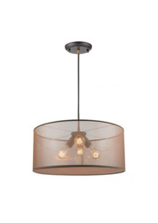 hotel pendant light with linen shade chrome contemporary design custom made in china lighting manufacturer coart item 2018512208187