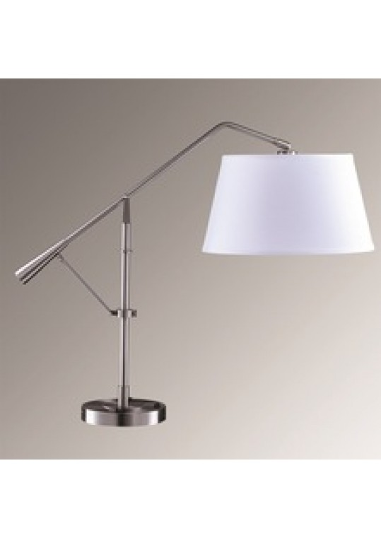 hotel table lamp in Brushed chrome Nickel metal and fabric shade new design with outlet USB and switch madie by china hotel lighting manufacturer coart item 115201804437