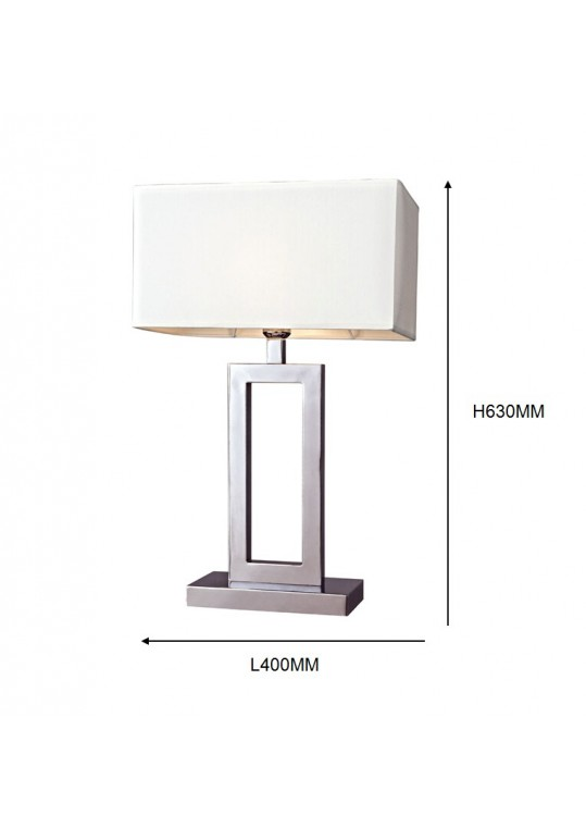 hotel table lamp in Brushed chrome Nickel metal and fabric shade new design with outlet USB and switch madie by china hotel lighting manufacturer coart item 11520180150
