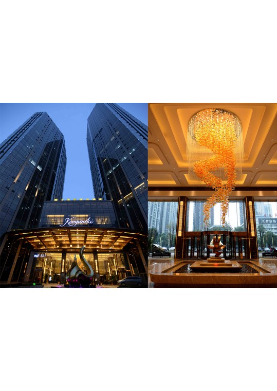 kempinski hotel project all lighting made from china lighting manufacturer coart