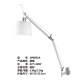 artemide style hotel desk lamp with aluminum silver finish for reading in guest room made in china lighting manufacturer coart item hp8092a