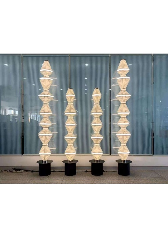 cloth silk custom made lighting from China coart lighting factory