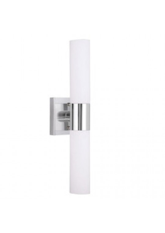hotel vanity wall light glass shade brushed nickle finish for bathroom made in China